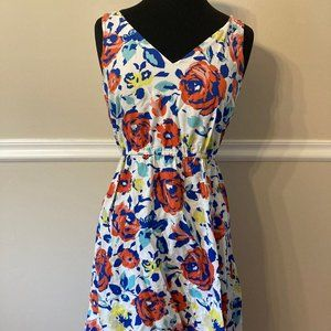Old Navy Red, Blue, & Yellow Floral Sundress